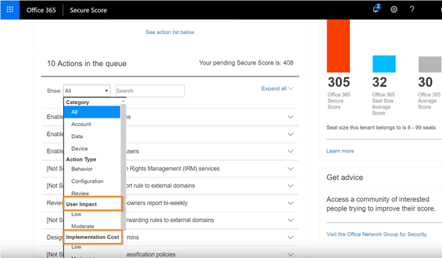 Microsoft Security Score Highlighting Filters – User Impact and Implementation Cost