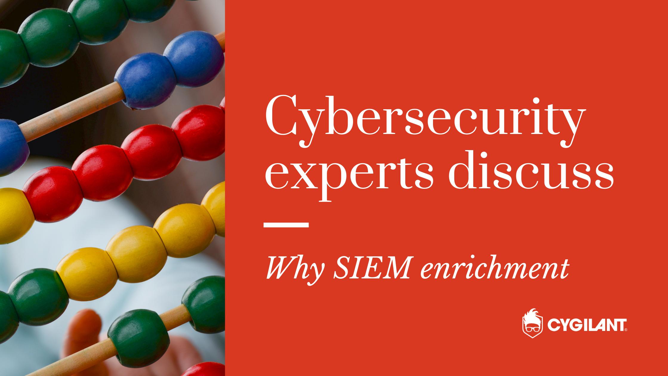 Why SIEM enrichment